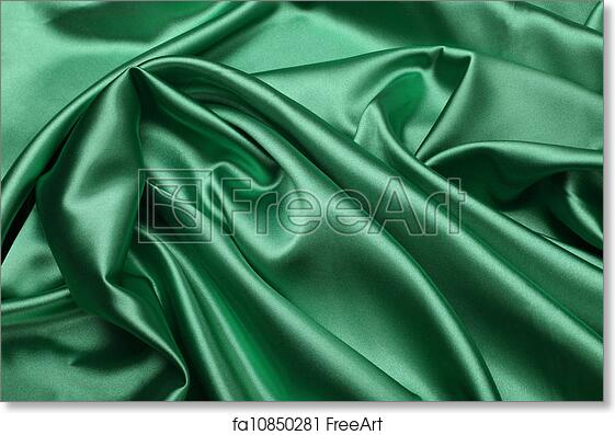 photograph about Printable Silk Fabric known as Free of charge artwork print of Environmentally friendly silk cloth heritage