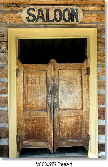 Free art print of Saloon doors - Free Art Print Of Saloon Doors. Authentic Saloon Doors Of Old