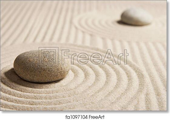 Free art print of mini zen garden stones on raked san mini rock free art print of mini zen garden workwithnaturefo