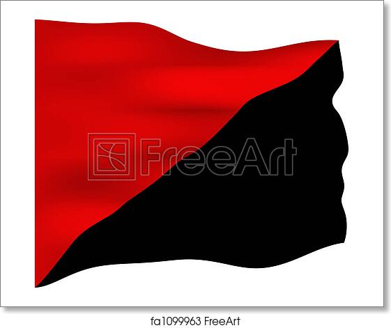 Free Art Print Of Anarchist Communism Flag Red And Black Flag