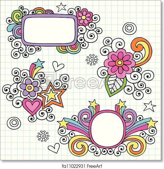 Free art print of Groovy Frames and Border Doodles. Groovy ...