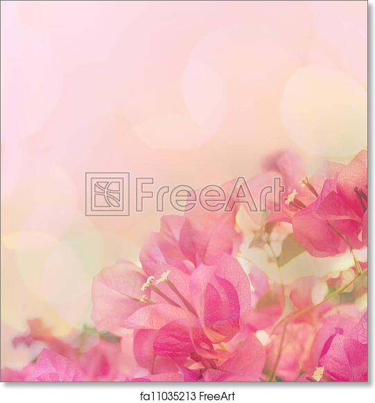 Free Art Print Of Beautiful Abstract Floral Background With Pink
