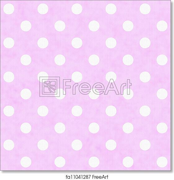 Free Art Print Of Pink White Polka Dot Fabric Background Pink White