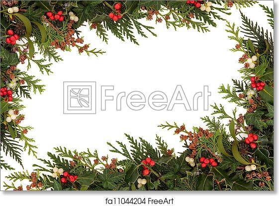 Free art print of Christmas Border. Christmas traditional border of ...