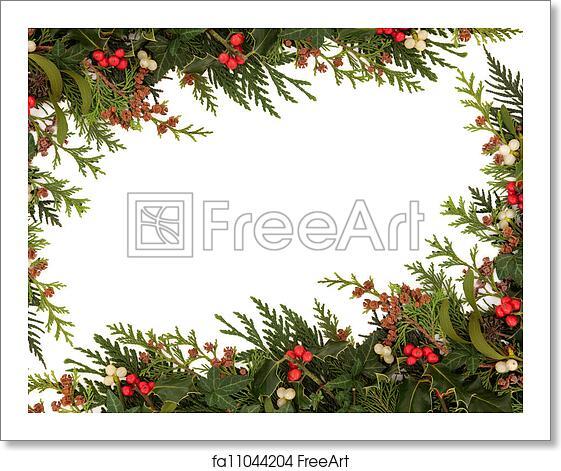 Christmas Border Art Print