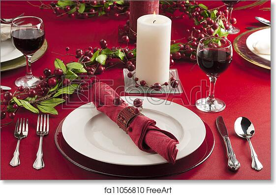 Free Art Print Of Christmas Dinner Table Image Christmas Dinner