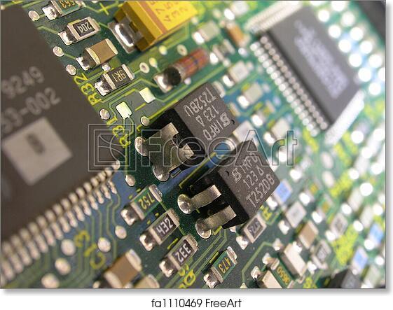 Free art print of Printed circuit board. Close up macro of Printed ...