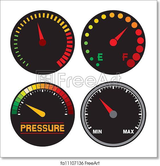 Free art print of Vector speedometer