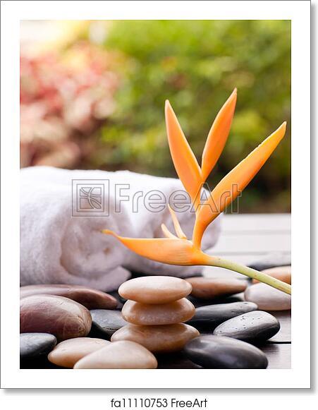 Free Art Print Of Zen Stones Outdoor Spa Concept Bokeh Background