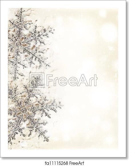 Free Art Print Of Snowflake Beige Decorative Border