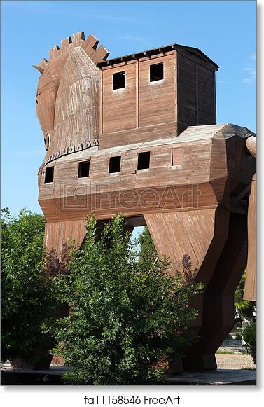 Free art print of Trojan Horse located in Troy, Turkey