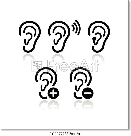 Free Art Print Of Ear Hearing Aid Deaf Problem Icons Hearing