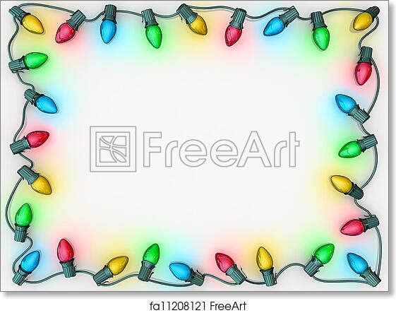 Christmas Light Border.Free Art Print Of Christmas Lights Border