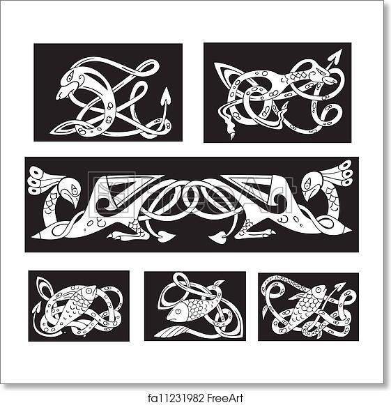 Free Art Print Of Animalistic Celtic Knot Patterns Animalistic Stunning Celtic Knot Patterns