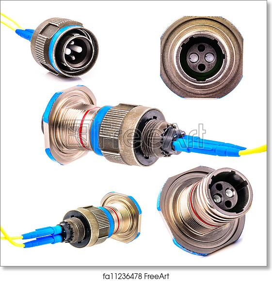 Free art print of Connector for fiber optic cable