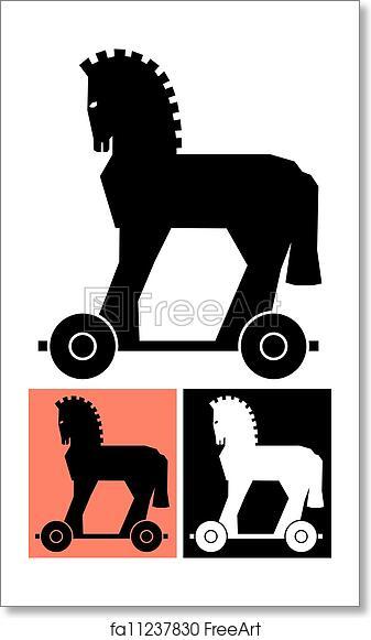 Free art print of Decorative Trojan Horse