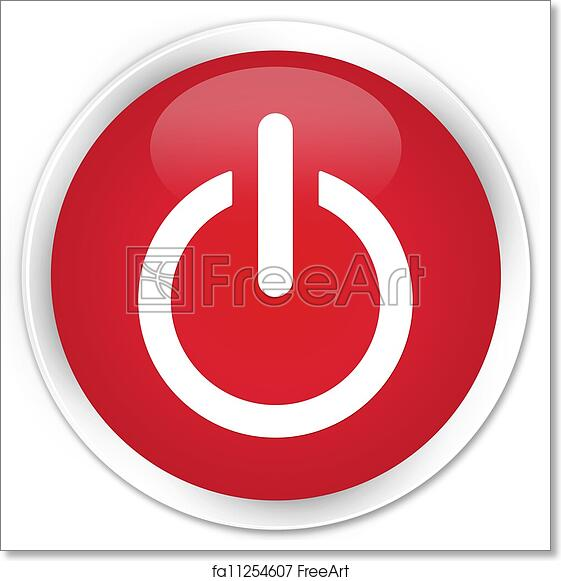 Free Art Print Of Power Off Icon Red Button Freeart Fa11254607
