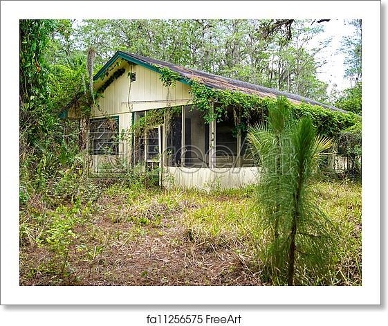 Free art print of Old florida abandoned house