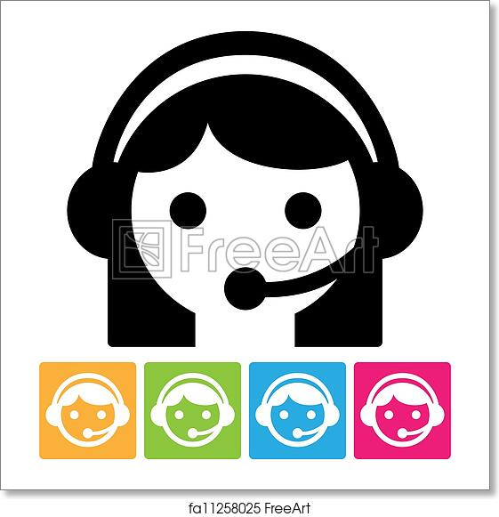 free art print of call center icon call center assistant in headset isolated on white icon freeart fa11258025 free art print of call center icon