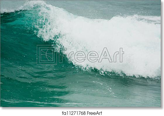 free art print of ocean waves background rough seas background with