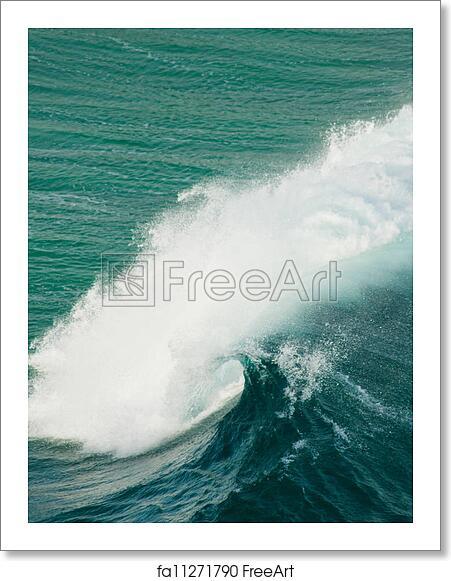 free art print of ocean waves background rough stormy seas causing