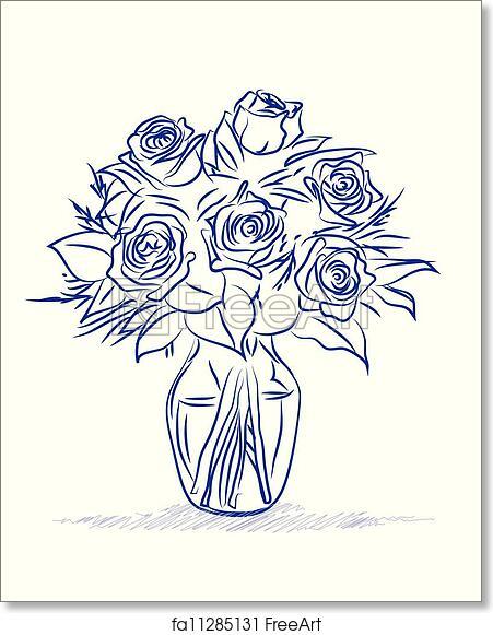 Free art print of Flowers sketch
