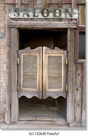 Free art print of Western Saloon Doors & Free art print of Western Saloon Doors. Old Western Swinging Saloon ...