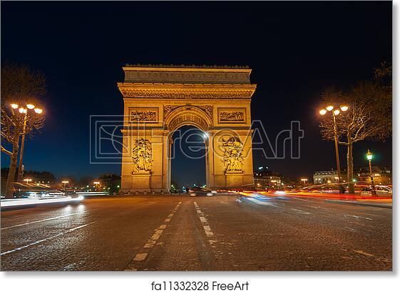 free art print of arc de triomphe paris famous french landmark