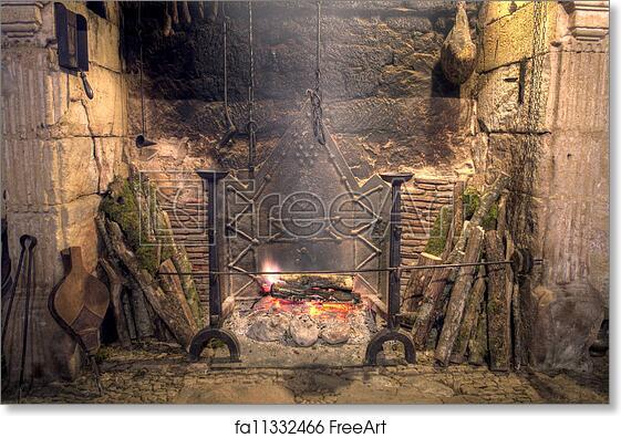 Free Art Print Of Medieval Castle Kitchen