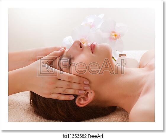 Free Art Print Of Spa Massage Young Woman Getting Facial Massage Freeart Fa11353582