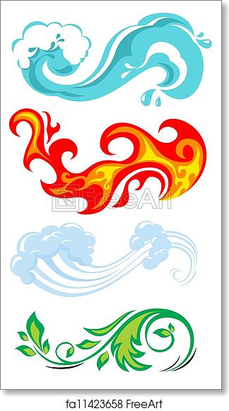 Free Art Print Of Four Elements Of Nature