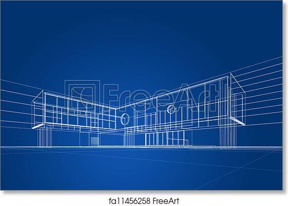 Free art print of architecture blueprint architecture blueprint on free art print of architecture blueprint architecture blueprint on blue background freeart fa11456258 malvernweather Gallery