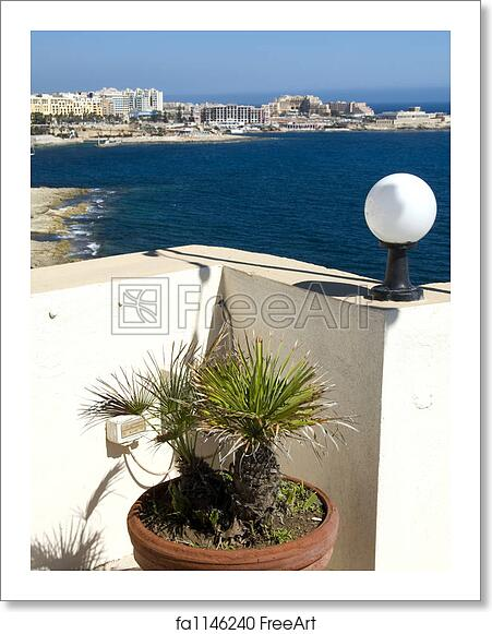 Free art print of View of st  julians from sliema malta