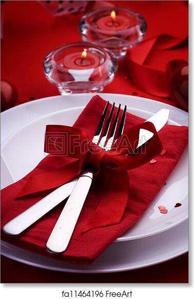 Free Art Print Of Romantic Dinner Place Setting For Valentine S Day