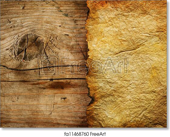 photo regarding Printable Wood Paper identify Free of charge artwork print of Previous Paper Sheet Higher than Picket Heritage