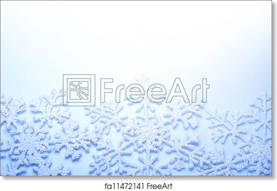 Free Art Print Of Snowflakes Border Winter Holiday Background