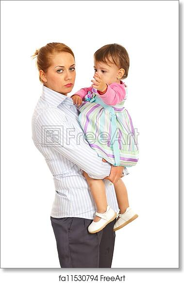 Free Art Print Of Tired Business Woman Being Mom