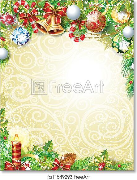 Free art print of Vintage Christmas background
