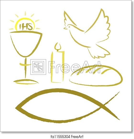 Free Art Print Of Holy Communion Religious Symbols Christian