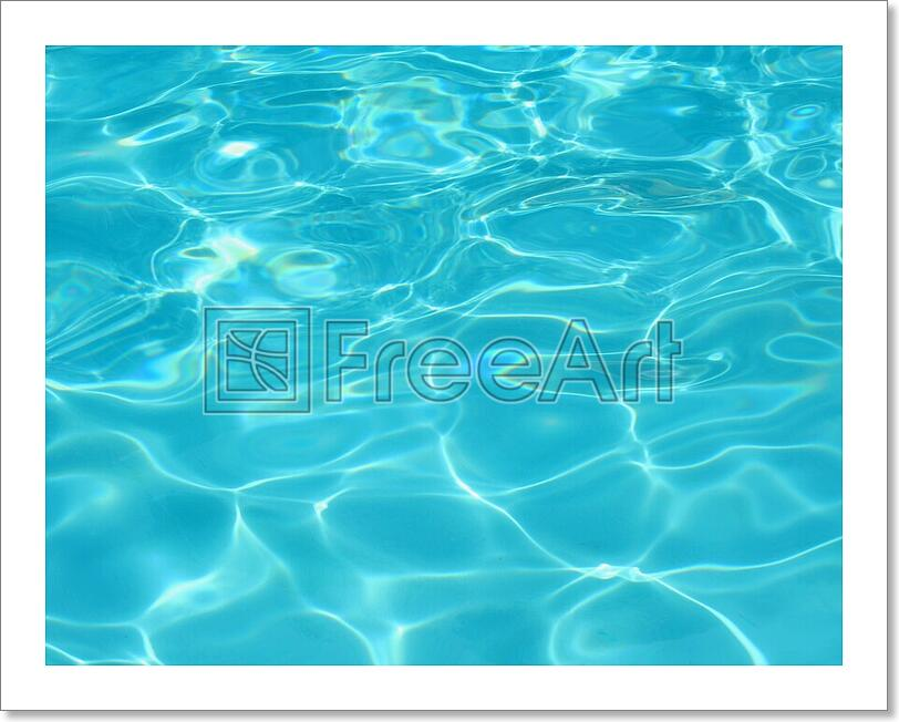 Details about Clear Blue Swimming Pool Water Art Print Home Decor Wall Art  Poster - G
