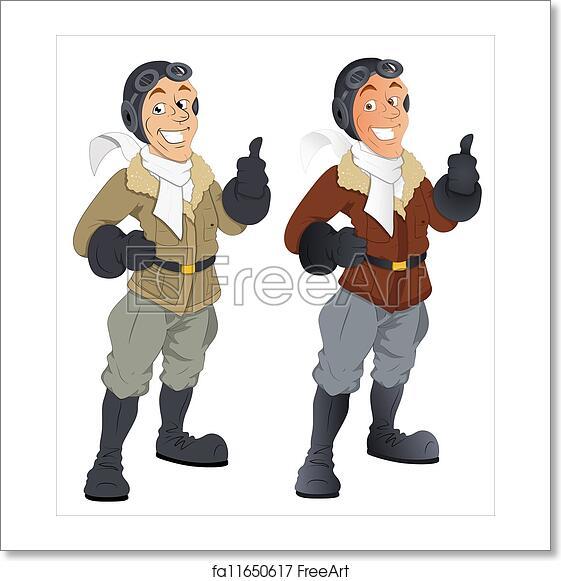 Free art print of Cartoon Pilot Vector Characters