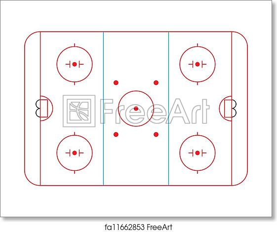 Free art print of Hockey rink. Ice hockey rink diagram ...