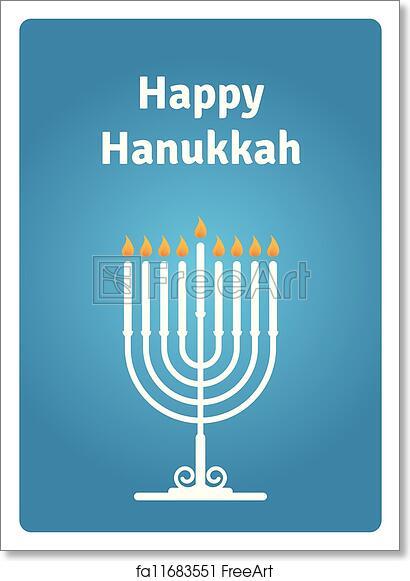 picture relating to Printable Hanukkah Card identify Cost-free artwork print of Blue Hanukkah card