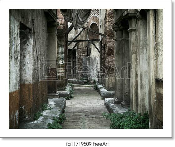 Free art print of Old abandoned houses in ancient Rome