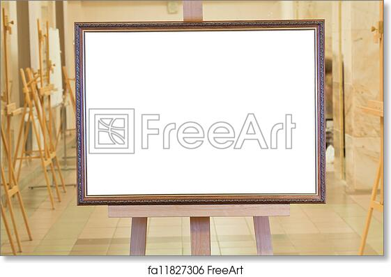 Free art print of Big picture frame on easel in art gallery. Big ...