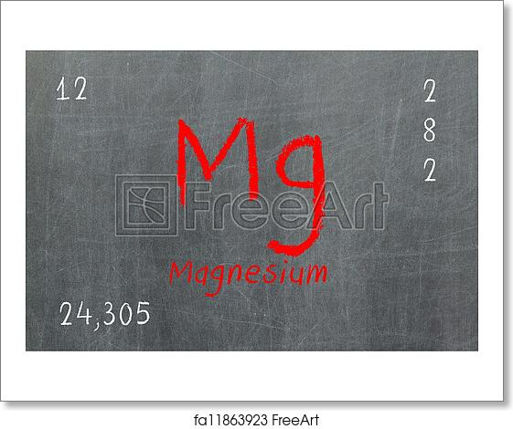 Free art print of isolated blackboard with periodic table magnesium free art print of isolated blackboard with periodic table magnesium urtaz Images