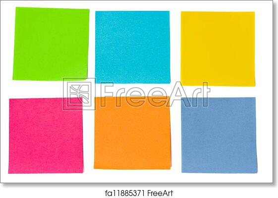 Free art print of Colorful sheets of paper. Colorful sheets of paper ...