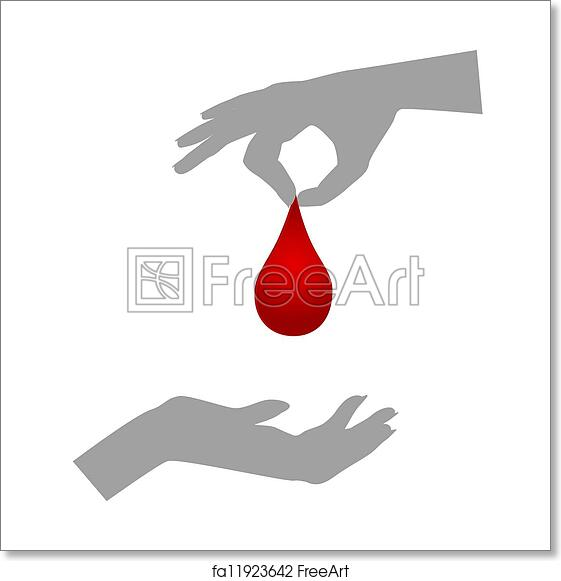 Free Art Print Of Blood Donation Blood Donationsilhouettes Of