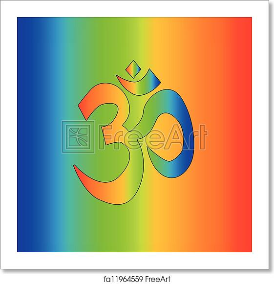 Free Art Print Of Rainbow Om The Symbol For Om As A Rainbow As