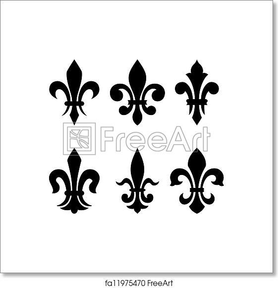 Free Art Print Of Heraldic Symbol Fleur De Lis Lily Flower
